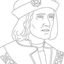 Dibujo para colorear : REY RICARDO III DE INGLATERRA
