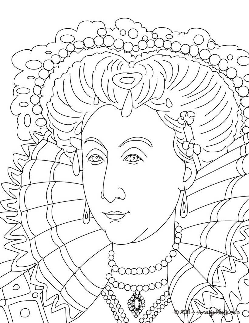 Line Drawing Of Queen Victoria : Dibujos para colorear reina isabel i de inglaterra es
