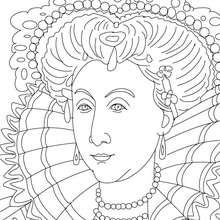 Dibujo para colorear : REINA ISABEL I DE INGLATERRA