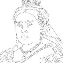 Dibujo para colorear : REINA VICTORIA DEL REINO UNIDO