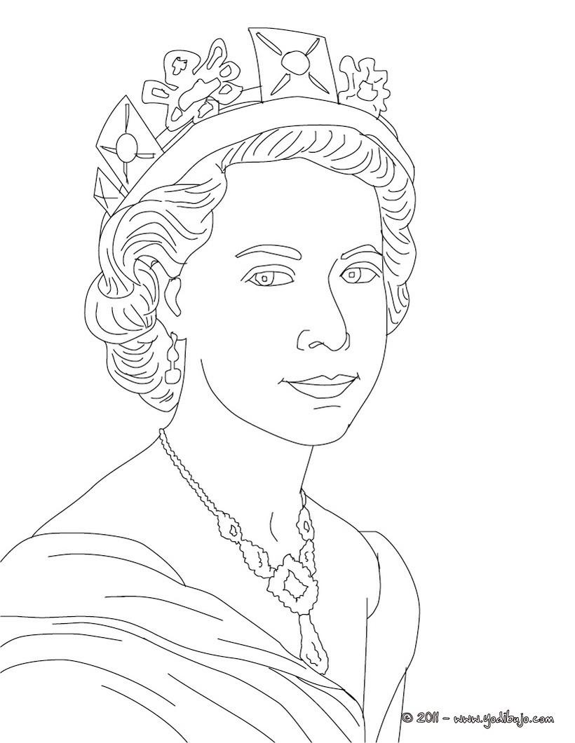 Dibujos para colorear reina isabel ii del reino unido - es ...