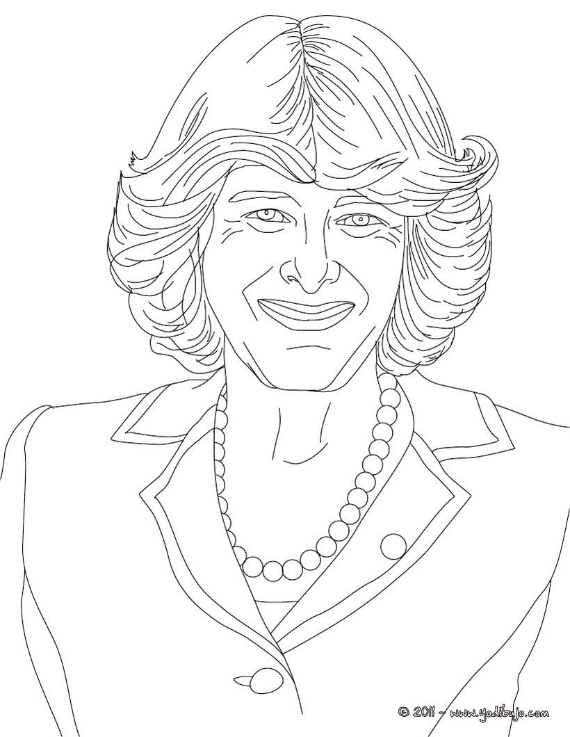 Dibujos Para Colorear Diana Princesa De Gales Es Hellokids Com