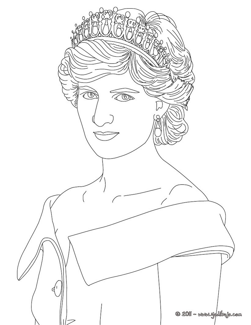Line Drawing Of Queen Victoria : Dibujos para colorear diana princesa de gales es