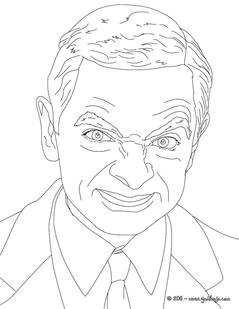 Dibujos Para Colorear Mr Bean Es Hellokids Com