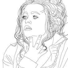 Dibujo de la actriz HELENA BONHAM CARTER para colorear - Dibujos para Colorear y Pintar - Dibujos para colorear PERSONAJES - PERSONAJES HISTORICOS para colorear - BRITÁNICOS famosos para colorear - CELEBRIDADES BRITÁNICAS