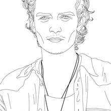 Dibujo para colorear : actor ORLANDO BLOOM