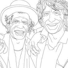 Dibujo para colorear : MICK JAGGER Y KEITH RICHARD