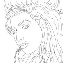 Dibujo para colorear : AMY WINEHOUSE