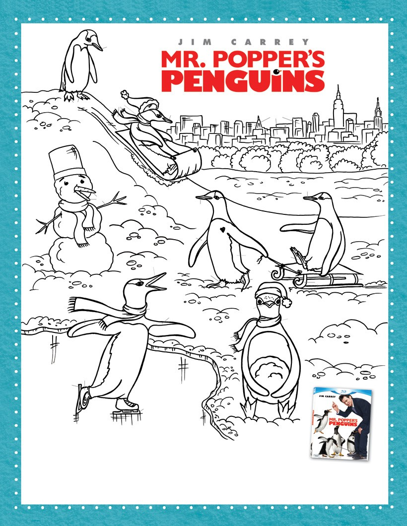 Dibujos para colorear los pingüinos del sr. poper - es.hellokids.com