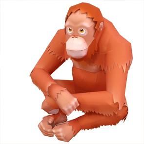 Orangután de papel 3D