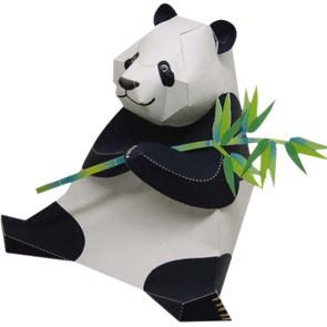 Oso de papel: Panda 3D