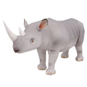 Rinoceronte de papel 3D