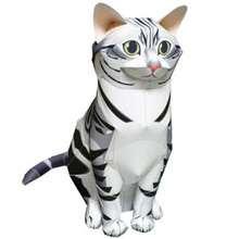 Doblado de papel : Gato de papel: Americano pelo corto 3D