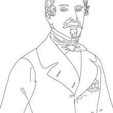 Dibujo para colorear : Presidente LUIS NAPOLEON BONAPARTE