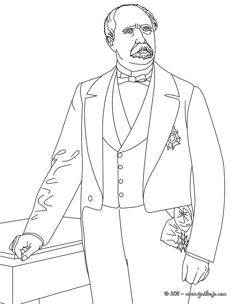 Dibujo para colorear : Presidente PATRICE DE MAC MAHON