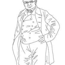 Presidente ADOLPHE THIERS para colorear - Dibujos para Colorear y Pintar - Dibujos para colorear PERSONAJES - PERSONAJES HISTORICOS para colorear - FRANCESES famosos para colorear - PRESIDENTES de Francia
