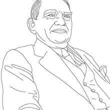 Dibujo para colorear : Presidente RENE COTY