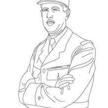 Presidente CARLOS DE GAULLE para colorear - Dibujos para Colorear y Pintar - Dibujos para colorear PERSONAJES - PERSONAJES HISTORICOS para colorear - FRANCESES famosos para colorear - PRESIDENTES de Francia