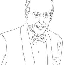 Dibujo para colorear : Presidente VALERY GISCARD D'ESTAING