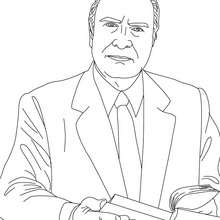 Dibujo para colorear : Presidente FRANÇOIS MITERRAND