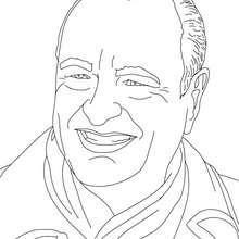 Dibujo para colorear : Presidente JACQUES CHIRAC