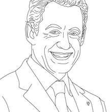 Dibujo para colorear : Presidente NICOLAS SARKOZY