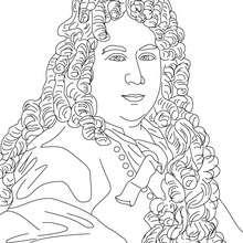 CHARLES PERRAULT para colorear - Dibujos para Colorear y Pintar - Dibujos para colorear PERSONAJES - PERSONAJES HISTORICOS para colorear - FRANCESES famosos para colorear - AUTORES Y ESCRITORES FRANCESES