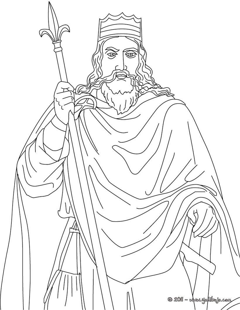 Dibujos Para Colorear Rey Carlomagno Emperador De Occidente