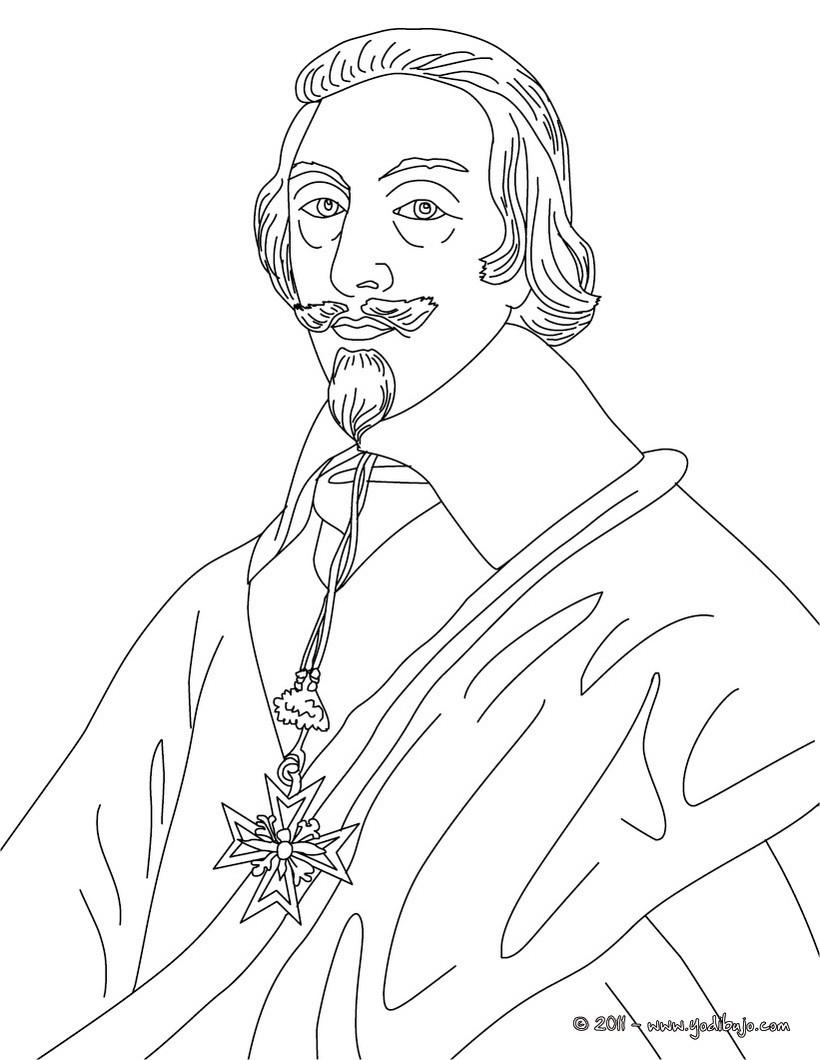 Dibujos para colorear cardenal richelieu - es.hellokids.com