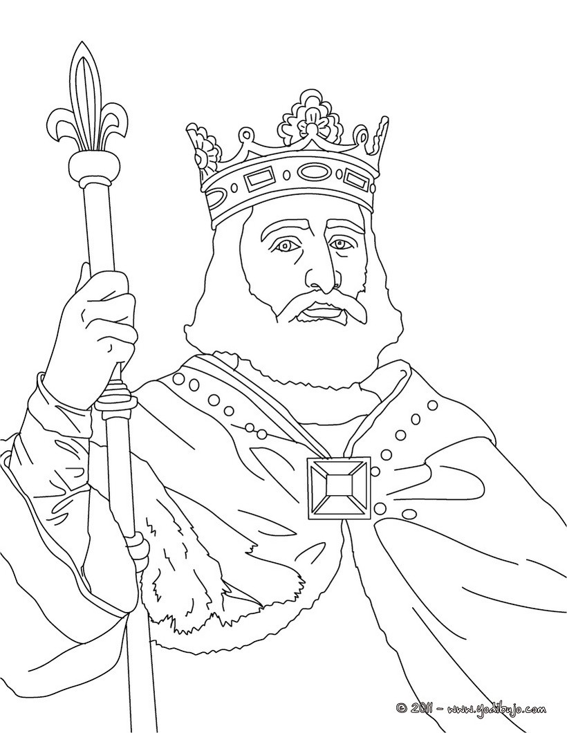 Dibujos Para Colorear Rey Carlos Martel Eshellokidscom