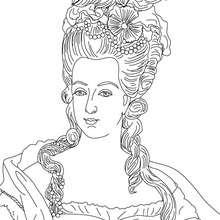 REINA MARIA ANTONIETA para colorear - Dibujos para Colorear y Pintar - Dibujos para colorear PERSONAJES - PERSONAJES HISTORICOS para colorear - FRANCESES famosos para colorear - REYES DE FRANCIA para colorear