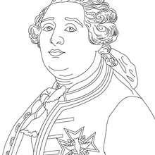 Dibujo para colorear : REY LUIS XVI DE FRANCIA