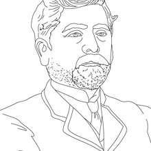 GUSTAVO EIFFEL para colorear - Dibujos para Colorear y Pintar - Dibujos para colorear PERSONAJES - PERSONAJES HISTORICOS para colorear - FRANCESES famosos para colorear - PERSONAS IMPORTANTES en la historia de FRANCIA