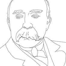 Dibujo para colorear : GEORGES CLEMENCEAU