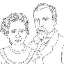 Dibujo para colorear : PIERRE Y MARIE CURIE