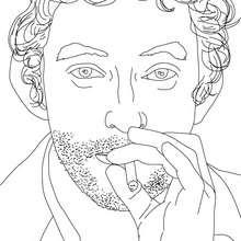 Dibujo para colorear : SERGE GAINSBOURG