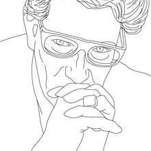 Dibujo para colorear : YVES SAINT LAURENT