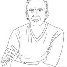JEAN PAUL GAULTIER para colorear - Dibujos para Colorear y Pintar - Dibujos para colorear PERSONAJES - PERSONAJES HISTORICOS para colorear - FRANCESES famosos para colorear - CELEBRIDADES FRANCESAS