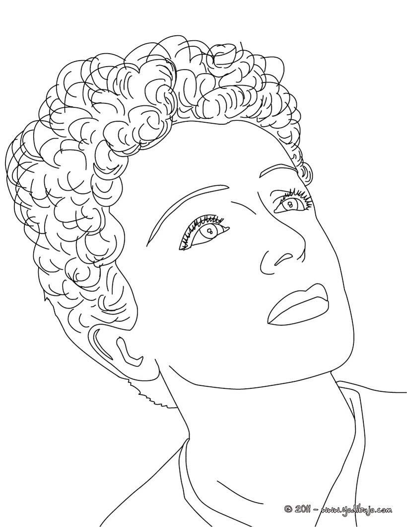 Dibujos para colorear david guetta - es.hellokids.com