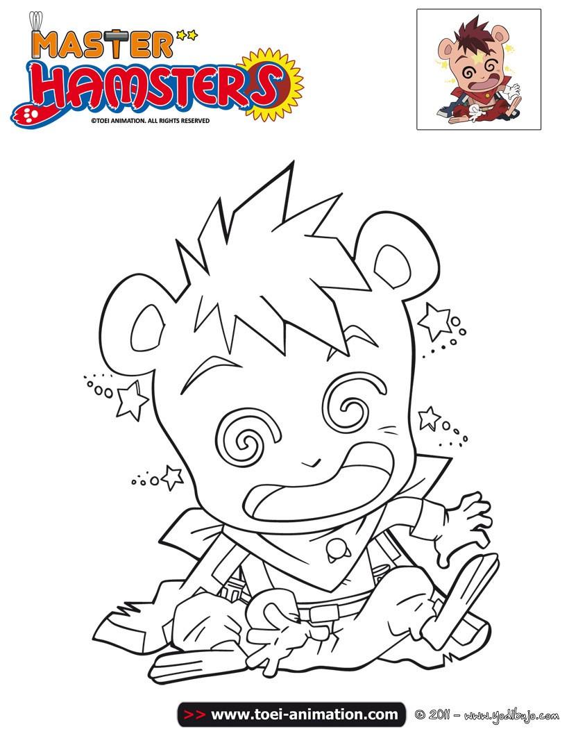 Dibujo para colorear : GAUDI  Master Hamsters