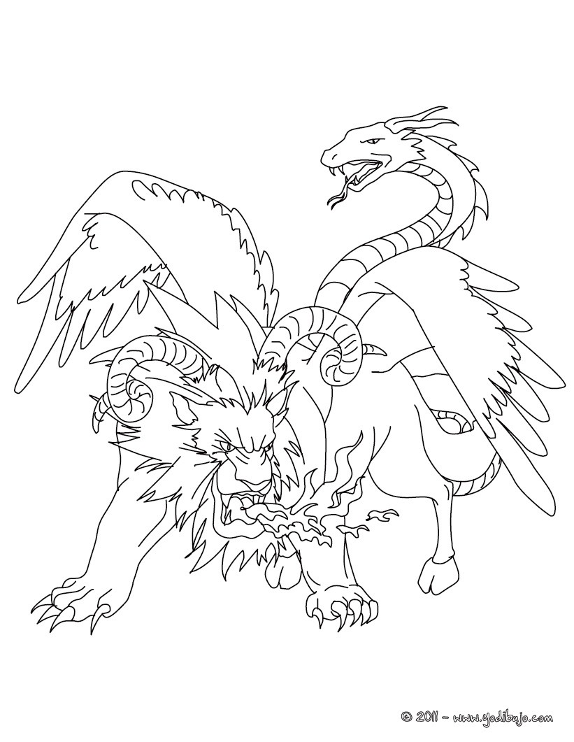 magical creature coloring pages - photo#20