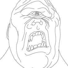 Dibujo para colorear : CICLOPE , gigante con un solo ojo en mitad de la frente