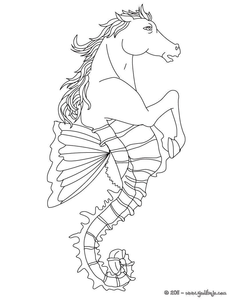 magical creature coloring pages - photo#19