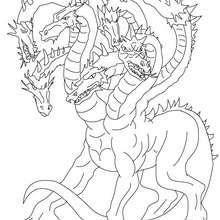 Dibujo de HIDRA DE LERNA para pintar, bestia marina con más de 100 cabezas de serpiente - Dibujos para Colorear y Pintar - Dibujos para colorear PERSONAJES - PERSONAJES HISTORICOS para colorear - PERSONAJES DE LA MITOLOGIA GRIEGA para colorear - CRIATURAS