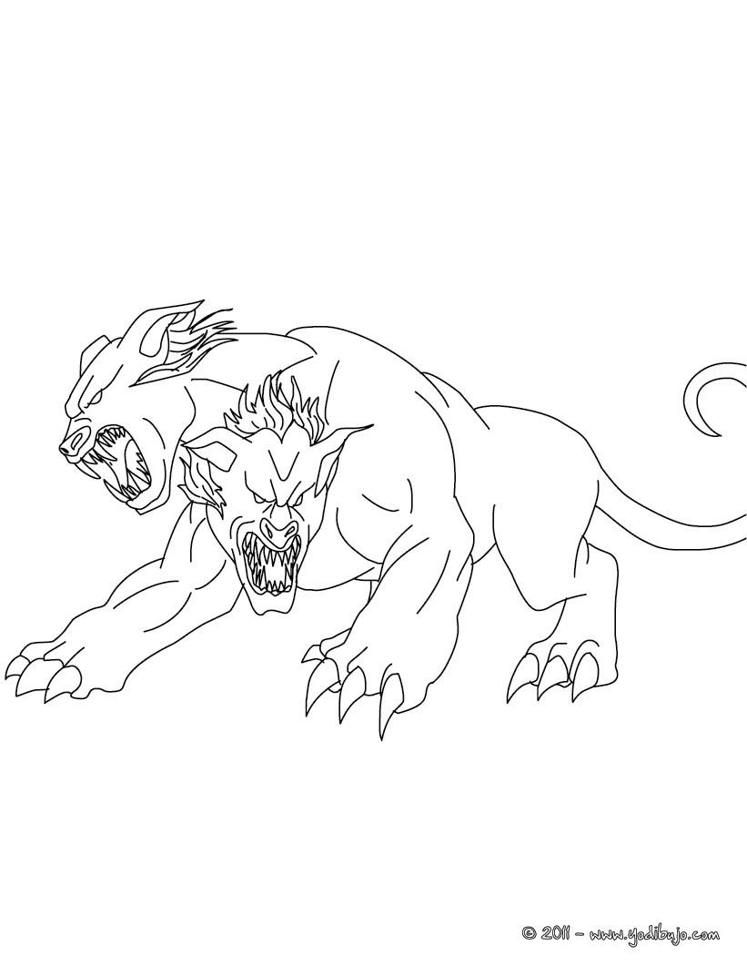 Dibujos para colorear satiro  criatura mitad hombre y mitad