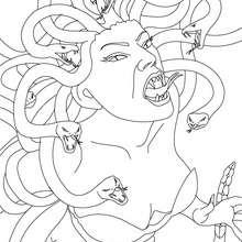 Dibujo de MEDUSA para colorear, gorgona con cabellos de serpiente - Dibujos para Colorear y Pintar - Dibujos para colorear PERSONAJES - PERSONAJES HISTORICOS para colorear - PERSONAJES DE LA MITOLOGIA GRIEGA para colorear - CRIATURAS MITOLOGICAS GRIEGAS p