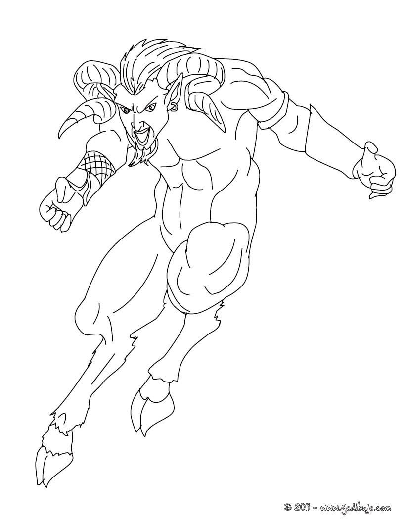 Dibujos para colorear quimera , monstruo horrendo griego - es ...