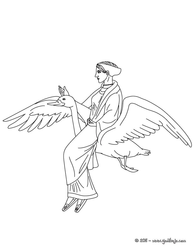 Dibujo para colorear : DIOSA AFRODITA , diosa griega del amor