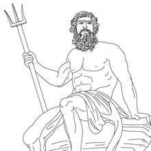 DIOS POSEIDON para colorear, dios griego de las mares - Dibujos para Colorear y Pintar - Dibujos para colorear PERSONAJES - PERSONAJES HISTORICOS para colorear - PERSONAJES DE LA MITOLOGIA GRIEGA para colorear - Dibujos de los DIOSES GRIEGOS par colorear