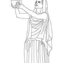 DIOSA HESTIA para colorear, diosa griega del hogar - Dibujos para Colorear y Pintar - Dibujos para colorear PERSONAJES - PERSONAJES HISTORICOS para colorear - PERSONAJES DE LA MITOLOGIA GRIEGA para colorear - Dibujos de las DIOSAS GRIEGAS para colorear